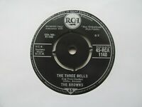 "THE BROWNS The Three Bells/Heaven Fell Last Night UK 7"" EX Cond"