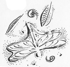Unmounted Rubber Stamps, Dragonfly Stamps, Fossil, Fossils, Dragonfly, Leaves