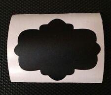 """12 - Chalkboard Vinyl Tags • 3"""" X 2 1/2"""""""