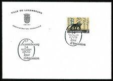 Luxemburg NR. 812 FDC Erstagsbrief Stadthaus Löwenskulptur 1970