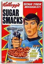 60's NOSTALGIA -KELLOGGS STAR TREK SPOCK SUGAR SMACKS- JUMBO FRIDGE MAGNET #15