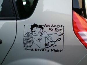 Betty Boop An Angel by Day A Devil by Night. Decal / Sticker