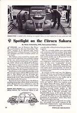 1962 CITROEN 2-CV SAHARA  ~  NICE ORIGINAL 2-PAGE ARTICLE / AD