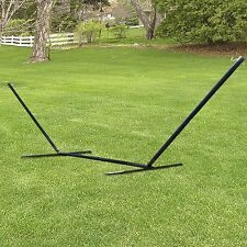 New Black Hammock Stand 15ft Solid Steel Beam Construction Outdoor Yard Patio