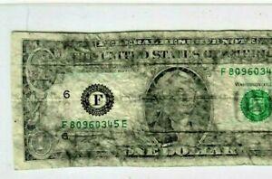 "$1 ""FUNKY PRINT ERROR""  RARE $1 ""FUNKY PRINT ERROR"" $1  (ATLANTA) RARE NICE!!"
