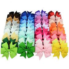 40 Pcs Satin Ribbon Bow Hair Clips Kids Girls Bow Hair Accessories D14