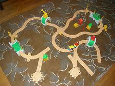 Fisher Price Flip Track Rail & Road Train Play Set Lot Tunnels Bridges Track EXC