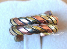 Hand Crafted Copper 3 Colors 2 Layers Twisted Open Ring All Size Arthritis