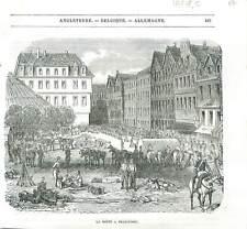 Diète d'Empire Parlement assemblée nationale de Francfort Allemagne GRAVURE 1848