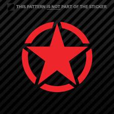 (2x) Willys Army Star Sticker Self Adhesive Vinyl