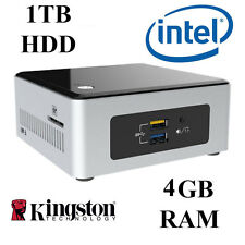 NUC Mini PC / Intel Dual Core / 4GB RAM / 1TB HDD / Windows 10 PRO / UK Seller