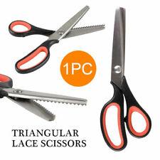 Stainless Steel Dressmaking Scissors Tailor Sewing Shears Craft Zig Zag Cut CS