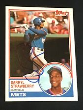 DARRYL STRAWBERRY 1983 TOPPS TRADED ROOKIE SIGNED AUTOGRAPHED CARD #108T NY METS