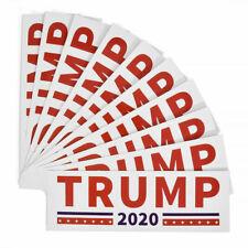 x20 DONALD TRUMP PRESIDENT 2020 WHITE & RED Bumper Sticker Car Decal **20 PACK**