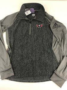 NWT Adidas Women's Washington Capitals NHL Sweater Quarter Zip L Large $75