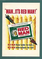 AMERICA'S BEST RED MAN CHEW CHEWING TOBACCO FOIL POUCH SIGN ARROW CHEIF