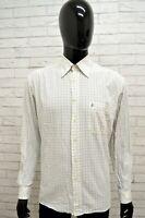 Camicia ROCCOBAROCCO Uomo Taglia Size XL Maglia Shirt Man Cotone Regular Quadri