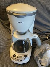 Braun AromaDeluxe KF-580 Type 3105 10-Cup Coffee Maker 1100W White