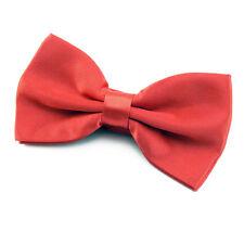 NOEUD PAPILLON en tissu satin rouge pour homme ou femme - Men Women Red Bowtie