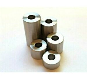 STAINLESS STEEL SPACERS STANDOFFS BUSH ALL DIAMETERS & LENGTHS & CLEARANCE HOLE