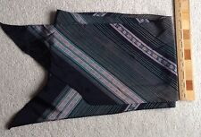 "OBLONG SILK STRIPED & FLORAL SCARF ~ approx. 52"" x 8"""