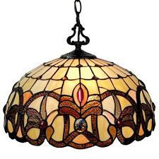 Amora Lighting Tiffany 2-Light Brown Tan Hanging Bowl Pendant