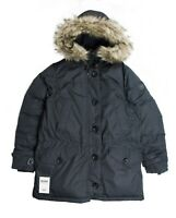 Ralph Lauren Women's Puffer Down Jacket Coat - Black - Faux Fur - Medium M BNWT