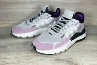 Adidas Originals Nite Jogger Womens Running Shoes Grey Suede size 8 NEW [EE5906]