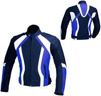 giacca jacket  da per moto in cordura blu yamaha S 46 M 48 L 50 XL 52 XXL 54