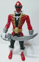 """10"""" Red Power Ranger Super Megaforce Deluxe FX 2010 Pirate Squadron Complete"""