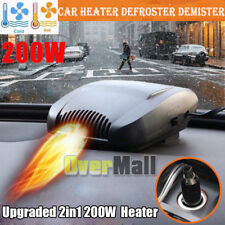 Upgraded 2in1 200W Portable Car Heating Cooling Fan Heater Defroster Demister US