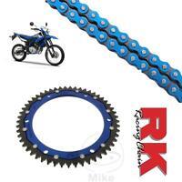 Yamaha WR125 R/X Chain and Sprocket Kit Blue RK Racing BLue ZF Rear SProcket