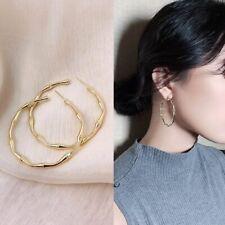 Fashion Jewelry Gift Simple Creative Design Metal Bamboo Shaped Big Hoop Earring