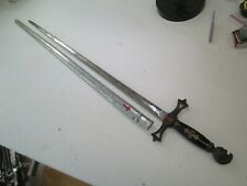 EARLY MASONIC FRATERNAL SWORD WITH SCABBARD ETCHED BLADE MAKER