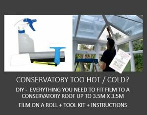 Conservatory Too Hot/Cold-DIY Kit-Everything You Need To Tint A 3.5m x 3.5m Roof