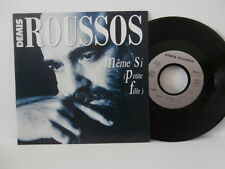 "demis roussos""meme si""(petite fille)""single7""or.fr.emi:1275287 de 1990 rare"