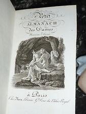 PETIT ALMANACH DES DAMES 1822 CHEZ ROSA PALAIS ROYAL PARIS PETIT LIVRE OLD BOOK