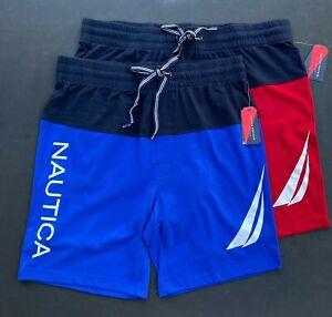 Nautica Men L XL Color Block Heritage Collection Knit Sleep Shorts Pants NEW