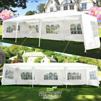 10'x30' Outdoor Canopy Gazebo Patio Wedding Tent Party 5-Windows Heavy Duty