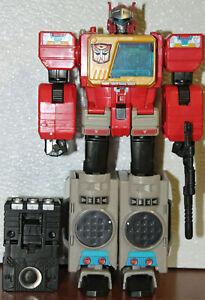 rare complete lot tf142 Transformer titans return leader BLASTER