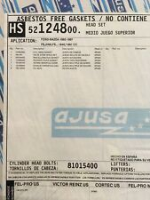 CRP AJUSA 52124800 Head Gasket Set New 81015400 Ford Mazda 1992-1997