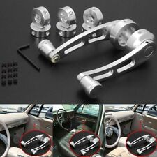 2pcs Universal Chrome Aluminum Car Window Winders/Door Cranks Handles Kit set