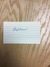 Lloyd Waner Pittsburgh Pirates HOF Autographed Index Card