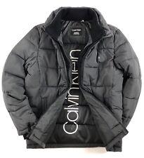 CALVIN KLEIN Jacket Men's Alloy Grey Full Zip Winter Puffer Coat CM908951