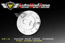 For 09-17 Dodge Ram Triple Chrome Fuel Tank Gas Filler Door Cap Cover