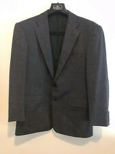 RALPH LAUREN PURPLE LABEL Gray Dot 100%Wool Mens Blazer Sport Coat Jacket-44R