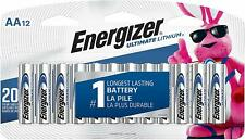 ENERGIZER AA BATTERIES (12 Count) DOUBLE A ULTIMATE LITHIUM BATTERY CAMERA GAME