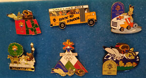 2002 Salt Lake Winter Olympic Games Mascots Collectable 6 Pin Lot