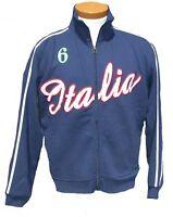 RICCI ITALIA ITALY FOOTBALL ZIP TRACK TOP BLUE MEN'S CASUAL JACKET BNWT SMALL BN