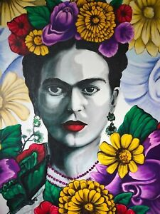 Frida Kahlo Contemporary Fine Art Painting Hand Painted Canvas Pop Art Painting